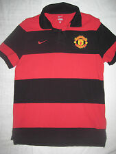 Nike Authentic Manchester United Polo Shirt Jersey Kit Trikot Red Short Sleeve