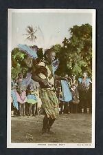 View of a African Dancing Party, Mombasa. Postmark - 1956