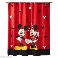 Mickey and Minnie Mouse Disney Fabric Shower Curtain Kids Bathroom Mickey Mouse