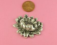LOVELY ANTIQUE SILVER PLATED BRASS WATER LILY FLOWER - 1 PC(s)