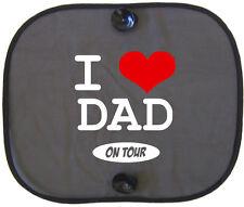 I Love papá on tour niños protección solar coche