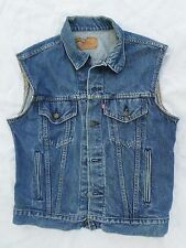 LEVI'S 70506 made USA red tab denim jean jacket rockabilly punk vest 40R