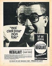 PUBLICITE ADVERTISING 044  1965  REGILAIT  lait écrémé bon pour le foie