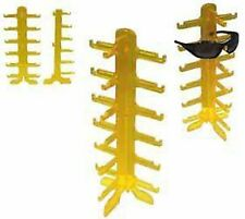 2 NEW YELLOW 6 PAIR SUNGLASS DISPLAY RACK  holder glasses counter displays racks