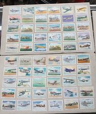 WINGS CIGARETTES AVIATION AIRPLANE TRADING CARDS LOT OF 60 VINTAGE