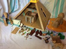 PLAYMOBIL HUGE EGYPTIAN LOT PYRAMID SPHINX PHARAOHS TEMPLE 4240 4242 Incomplete