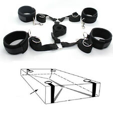 Under the Bed Bondage system tool Set Nylon Bands Neoprene Wrist Ankle Cuffs
