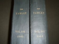 1903 THE TABLET A WEEKLY NEWSPAPER & REVIEW 2 BOUND VOLUMES 101 & 102 - R 1064