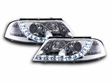 VW Passat 3BG 2000-2005 Chrome LED DRL Daylight Running Headlights Pair RHD NEW