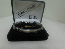 US Vintage SPEIDEL USA Signed PEWTER ID Bracelet Designer Jewelry Collection BA