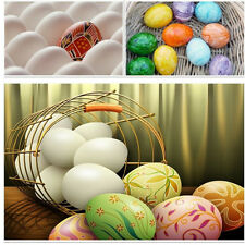 6pcs Wooden Eggs for EASTER DIY Painting Crafts Kids Pretend Play Food Toy