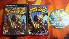 DESTROY ALL HUMANS! 2 PLAYSTATION 2 PS2 NTSC USA SHIPPING 24/48H