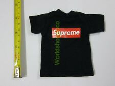 "1/6 Scale Tee Black Short Sleeves T-Shirt Super For 12"" Action Figure"