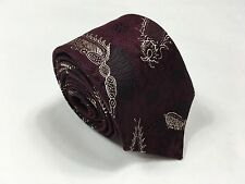 New NWT Dries Van Noten Red Paisley Silk Tie W - 2 5/8 Skinny Italy