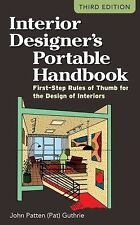 Interior Designer's Portable Handbook : First-Step Rules of Thumb for the De…