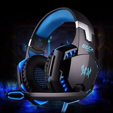 LED 3.5mm Gaming Headset Mic Headphones Stereo Surround PC Laptop PS4 Xbox Gift