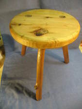 BW Stool, chair, seat, furniture, bench, Rustic/Primitive, Pine, Artist made