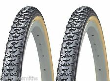 "2 PAK KENDA K161 CycloCross 27"" x 1-3/8"" Gum Wall Winter Bike Tire  Road Knobby"