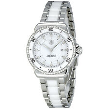 Tag Heuer Formula 1 White Diamond Dial Steel and Ceramic Ladies Watch