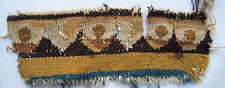 Antique Tapestry Frag. Depicts Repeating Scallop Design  Wool Hand French