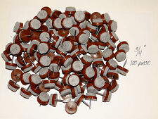 "100 FELT BOTTOM 3/4"" NAIL-ON CHAIR GLIDES,  PROTECT TILE & HARDWOOD FLOORS"