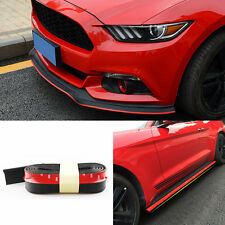Black Rubber Red Edge Front Bumper Trims 2.5m*6cm for Ford Mustang 2015-2017