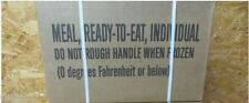 16 Meals 1 Case 2017-18isp Military MRE's+4 Bonus Meals Hunting fishing Camping