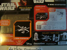 metal earth 3D model kit en métal star wars x wingt starfighter neuf