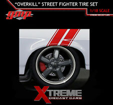 GMP 18826 1:18 1970 NOVA OVERKILL STREET 5 SPOKE WHEEL & TIRE SET OF 4