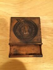 1920's Indian Motorcycle Copper Matchbook Holder