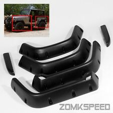 "For 97-06 Jeep Wrangler TJ 6"" Wide Pocket Rivet Style Fender Flares Protectors"