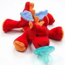 NEW WUBBANUB INFANT RARE RED PLUSH DRAGON PACIFIER PACIFIERS LOT SOFT CHILD TOY