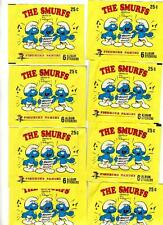 10 1982 Topps Smurf Stickers Unopened Wax Packs