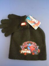MARVEL ULTIMATE SPIDER MAN BOYS' WINTER HAT & GLOVES SET ONE SIZE FITS MOST NICE