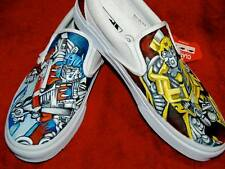 Custom TATTOO hand painted Men's sneakers VANS slip ons TRANSFORMERS fanboy
