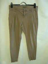 "Ladies Trousers - Zara, 32""W, brown colour, chinos, tapered, used - 0245"