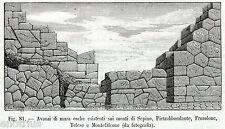 MURA OSCHE: MONTI DI SEPINO,PIETRABBONDANTE,FROSOLONE,MONTEFALCONE. Molise.1899