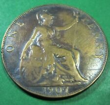 1907 UK 1d One Penny #UK1907-P