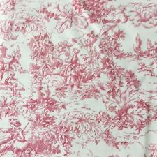 Pink Ivory French Toile Shabby Chic Interior Decorating Upholstery Fabric BTY