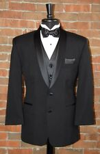 MENS 48 R  SLIM FIT BLACK 2 BUTTON SHAWL DINNER JACKET TUXEDO