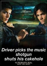 Supernatural (TV Series) Photo Quality Magnet: Driver Picks The Music...