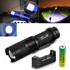 US STOCK!CREE XML Rechargeable 5000LM LED Flashlight Focus Torch Light 18650 Set