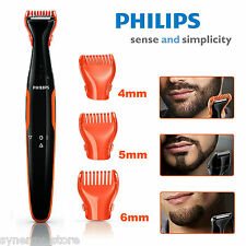 Philips BEARD TRIMMER Cordless Detail Shaver, Men Beard Styling 3 Combs, Compact