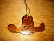 Western Rustic Christmas Ornament Cowboy Hat Holiday Home Decor Rodeo