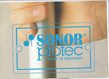 VINTAGE MUSICAL INSTRUMENT CATALOG #10516 -  SONOR DRUMS - PROTEC