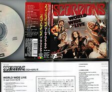 SCORPIONS World Wide Live JAPAN 1CD w/OBI+BOOKLET+INSERT TOCP-53208 Free S&H/P&P