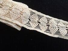 """31"""" Antique Lace Edwardian Crochet Tape Salvage Authentic Vintage Repair wrk"""