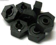 02100 M12 12mm Hub Hex Mount x 8 Plastric - Black HSP Hi Speed Parts