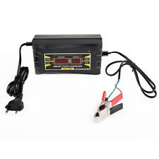 12V 6A Lead-acid LCD Display Battery Charger UK Plug Adapter For Motorcycle Car