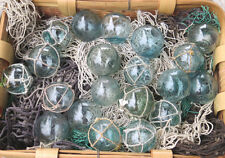 """Japanese Glass Fishing FLOATS 2"""" Mixed LOT-20 10 Netted 10 w/o Net Display Decor"""